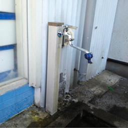 水柱栓(立水栓)の破損と水漏れ